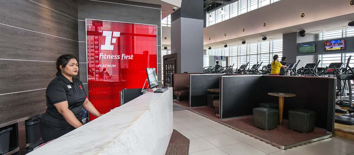 fitness first front of house counter